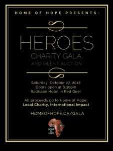 home of hope gala ticket register buy charity local charity international impact brian thomson home church poster webpage donate donation silent auction poster