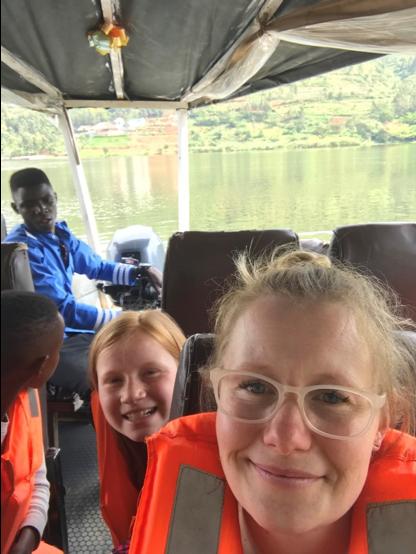 klassen family 5 five africa rwanda home of hope lacey jacob jake eleah brianca blaze fun safari trip mission tour hoh brian thomson blog post 2019 boat ride kigaga