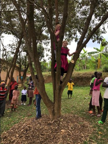 klassen family 5 five africa rwanda home of hope lacey jacob jake eleah brianca blaze fun safari trip mission tour hoh brian thomson blog post 2019 climb tree
