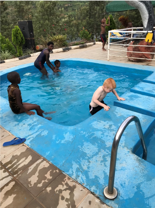 klassen family 5 five africa rwanda home of hope lacey jacob jake eleah brianca blaze fun safari trip mission tour hoh brian thomson blog post 2019 pool
