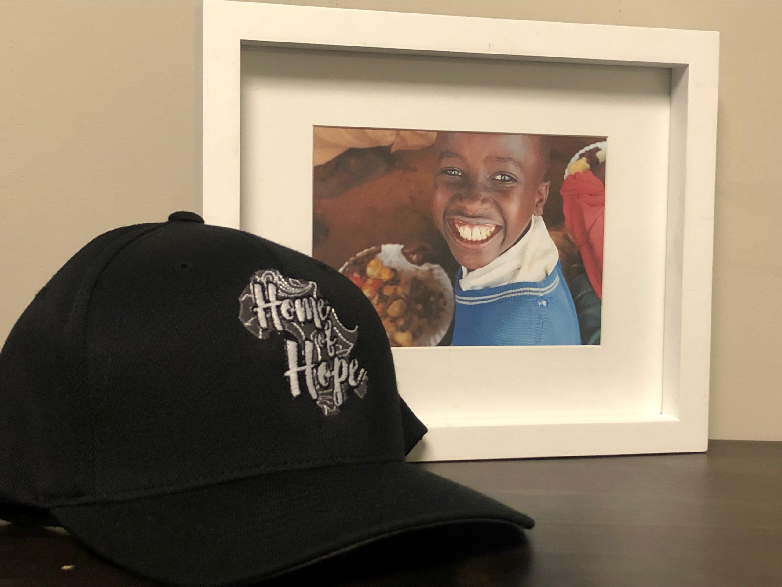 homeofhope home of hope hat black logo merch product merchandise donate donation sponsor sponsorship help donations child health cards healthcard feeding program