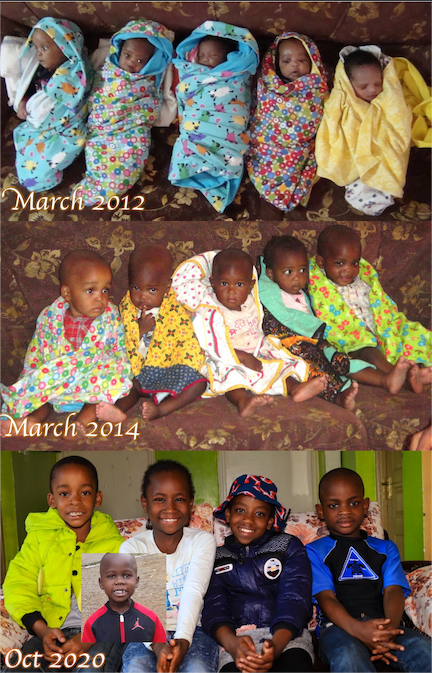 recreated pic of 5 children at the dream centre
